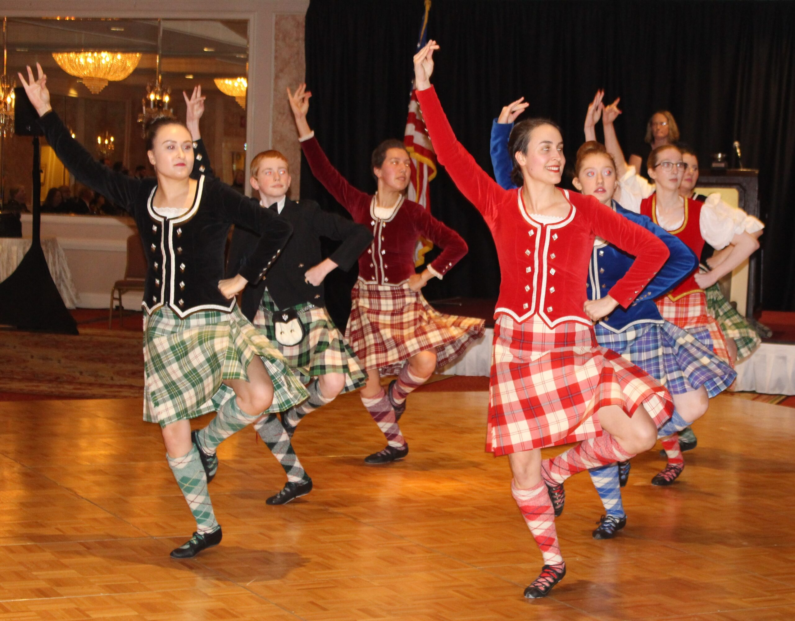 Dance Caledonia performing at the 2020 Burns Dinner